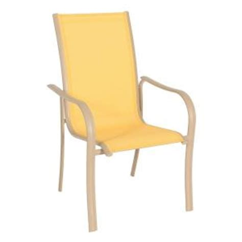 Sling Stacking Chair Home Depot by Miami Stack Yellow Patio Chair Fca60051 Yellow The Home