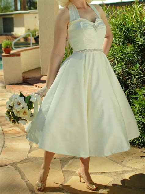 style wedding dresses ivory  inspired tea length