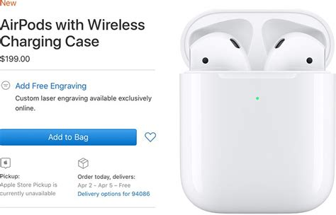 airpods with wireless charging delivery date slips to april macrumors