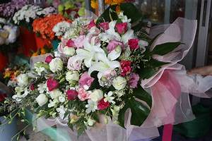 Pink Roses-White Roses- White Lilies- White Orchids- Pink