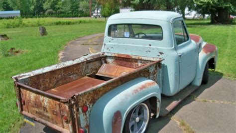 1953 f100 barn find rat rod derelict patina fuel injected all wheel drive