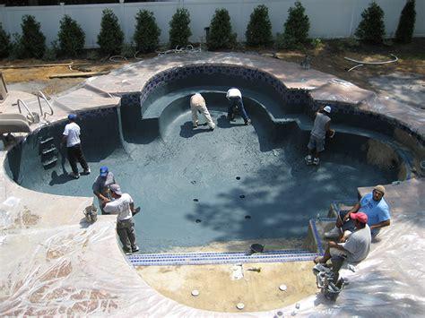 gunite pool construction process landi pools games