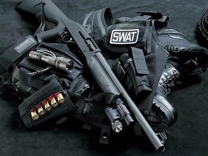 Swat Tactical Gear Shotgun Background Wallpapers Weapons