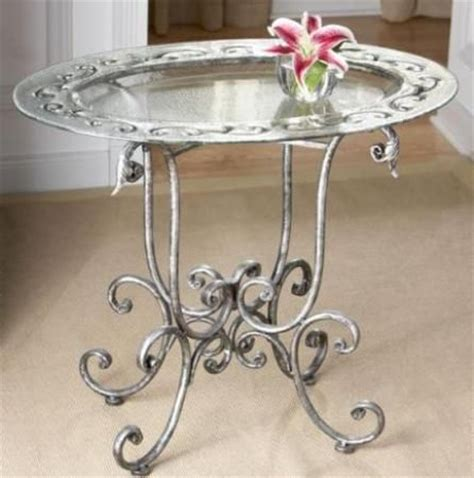 for decorative purposes only cbk styles 43906 glass top table scroll folding stand cast glass painted top antique