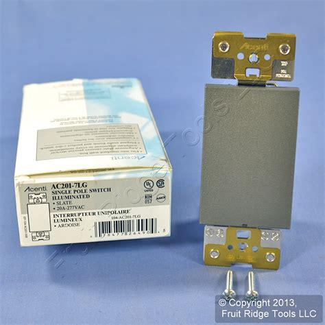 leviton acenti blue led wall light switch slate gray 20a
