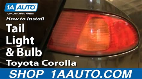 install replace tail light  bulb toyota corolla