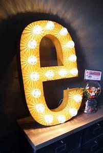 Enseigne Lumineuse Deco : tres grande lettre e d 39 ancienne enseigne lumineuse fa on fete foraine d co pinterest fun ~ Teatrodelosmanantiales.com Idées de Décoration