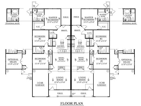 3 Bedroom Townhouse Plans Australia by 3 Bedroom Duplex Floor Plans Duplex Plan 1392 A