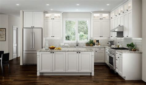 All Wood RTA 10X10 Transitional Shaker Kitchen Cabinets in