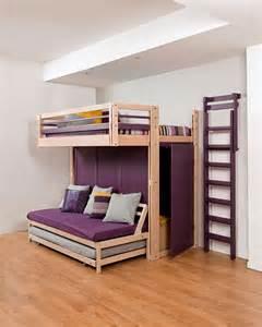 Lit En Hauteur Avec Bureau by Small Surfaces Interior Design With Space Saving Furniture