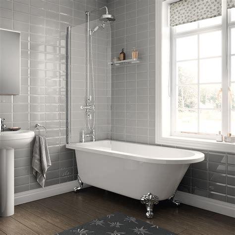 freestanding single ended bath  screen