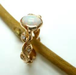 simple opal engagement rings images - Opal Engagement Rings