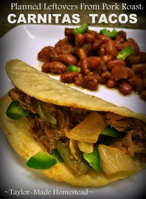 Taste preferences make yummly better. Planned Leftovers: Carnitas Tacos from Leftover Pork Roast