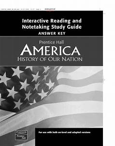 Interactive Reading And Notetaking Study Guide Answer Key