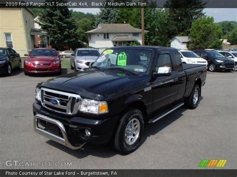 black  ford ranger xlt supercab  medium dark