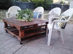 DIY Pallet Patio Table