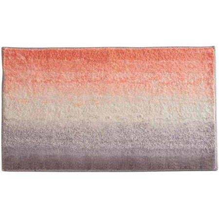 Coral Color Bathroom Rugs by Interdesign Microfiber Ombre Bathroom Shower Accent Rug