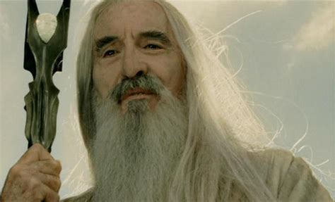 lord   rings actor  legend christopher lee