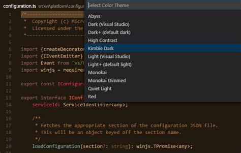 Themes Codes Visual Studio Code Themes