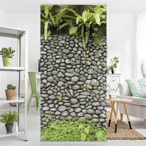 pflanzen als raumteiler raumteiler steinwand mit pflanzen 250x120cm