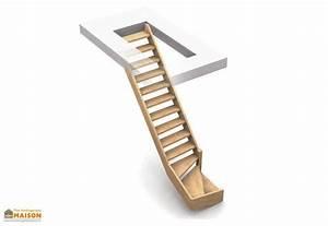Escalier 1 4 Tournant Droit : echelle de meunier normandie 1 4 tournant droit bois burger ~ Dallasstarsshop.com Idées de Décoration
