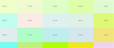 how do you spell color what colors do you get when you spell words in hex