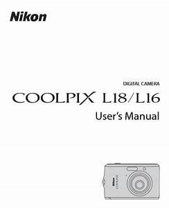 Nikon Coolpix L16 Manual  Camera Owner User Guide And
