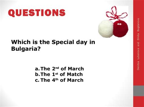 Special Day In Bulgaria 1st March