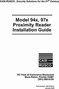 Casi Rusco 94x 940  941 Proximity Readers User Manual