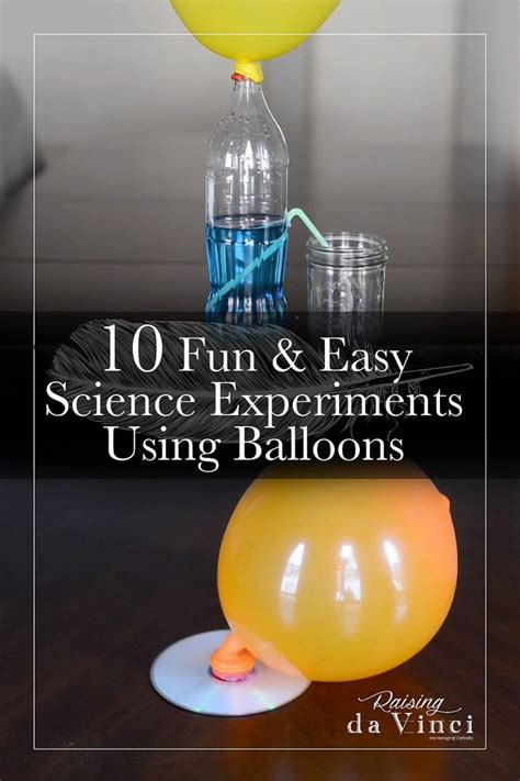 easy science experiments  balloons