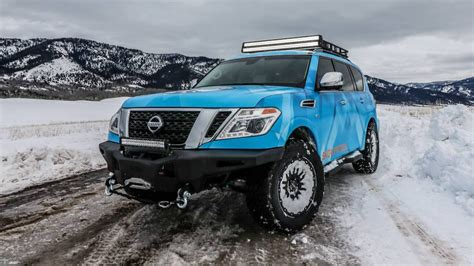 custom lifted nissan armada nissan builds armada snow patrol one off for 2018 chicago
