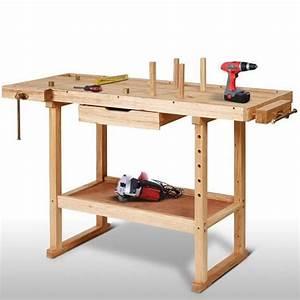 Plan Atelier Bricolage : tabli en bois atelier bricolage rangement outils ~ Premium-room.com Idées de Décoration