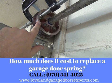 Garage Door Springs Installation Cost by How Much Does It Cost To Replace A Garage Door