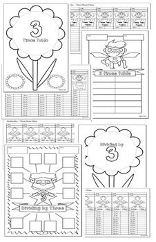 multiplication division cut and paste activities 2 3 4
