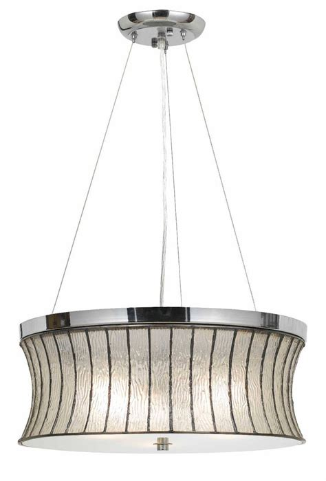 deco style modern chrome bell glass metal drum