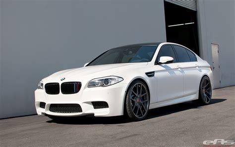Frozen White M5 Gets Vorsteiner Wheels And Gruppe M Intake