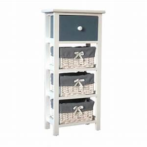 Petit Meuble Salle De Bain : ibiza petit meuble de rangement de salle de bain 30 cm laqu blanc brillant achat vente ~ Teatrodelosmanantiales.com Idées de Décoration