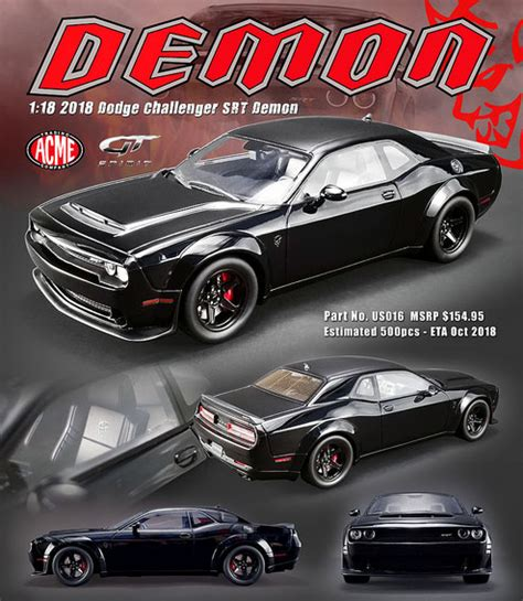 dodge challenger demon srt details diecast cars