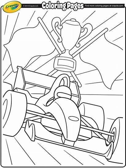 Formula Race Coloring Pages Crayola Racecar Winner