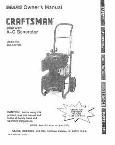 Craftsman 580327700 User Manual Generator Manuals And