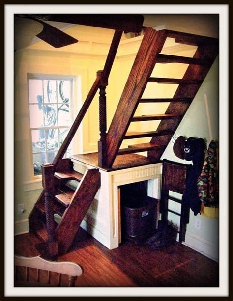 simple wood staircase small spaces home style