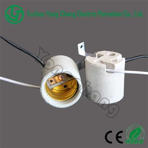 porcelain l socket wiring ceramic l bulb socket e26 with wires and a bracket
