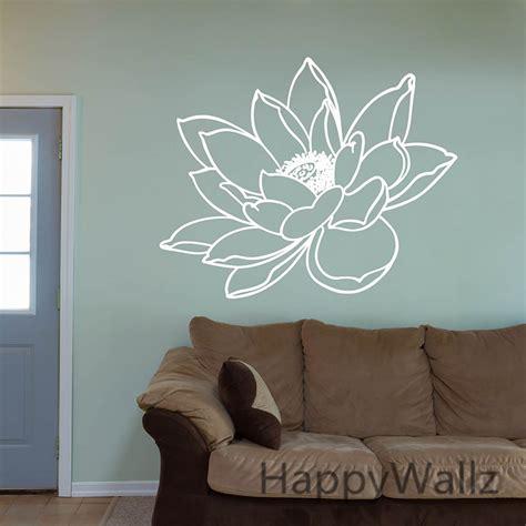lotus wall sticker lotus flower wall sticker flower lotus wall decal diy