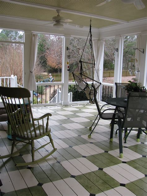 love the pattern for the painted porch floor styling