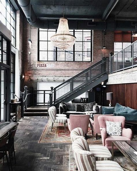 Victorian Meets Industrial With Blush Armchairs  For The