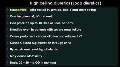 High Ceiling Diuretics Side Effects by Lecture 1 Adithan Diuretics July 22 2016 Mgmcri