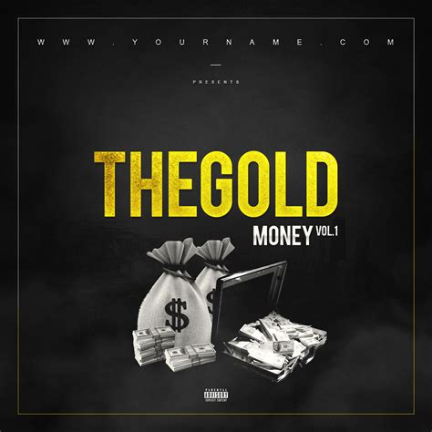 mixtape template gold money mixtape cover template vms