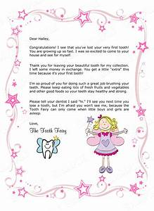 Tooth fairy letter your child39s 1st missing tooth girl for Free printable tooth fairy letter template