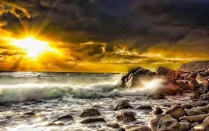 Sunrise Ocean Nature Beaches Beauty Wallpapers Desktop