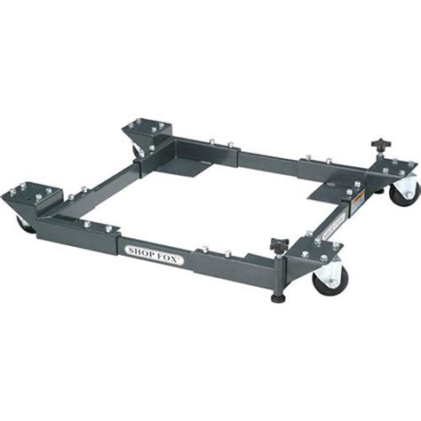 stands tables bases shop fox rolling mobile tool base heavy duty adjustable da